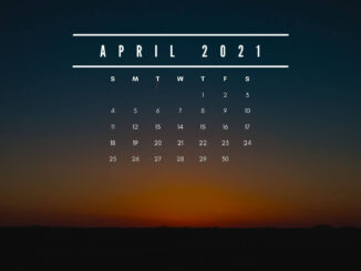 April 2021 Screensaver Background Calendar