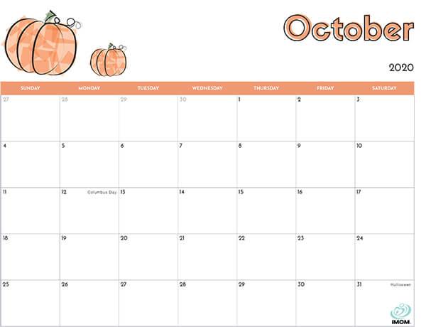 October 2020 Australia Holidays Calendar