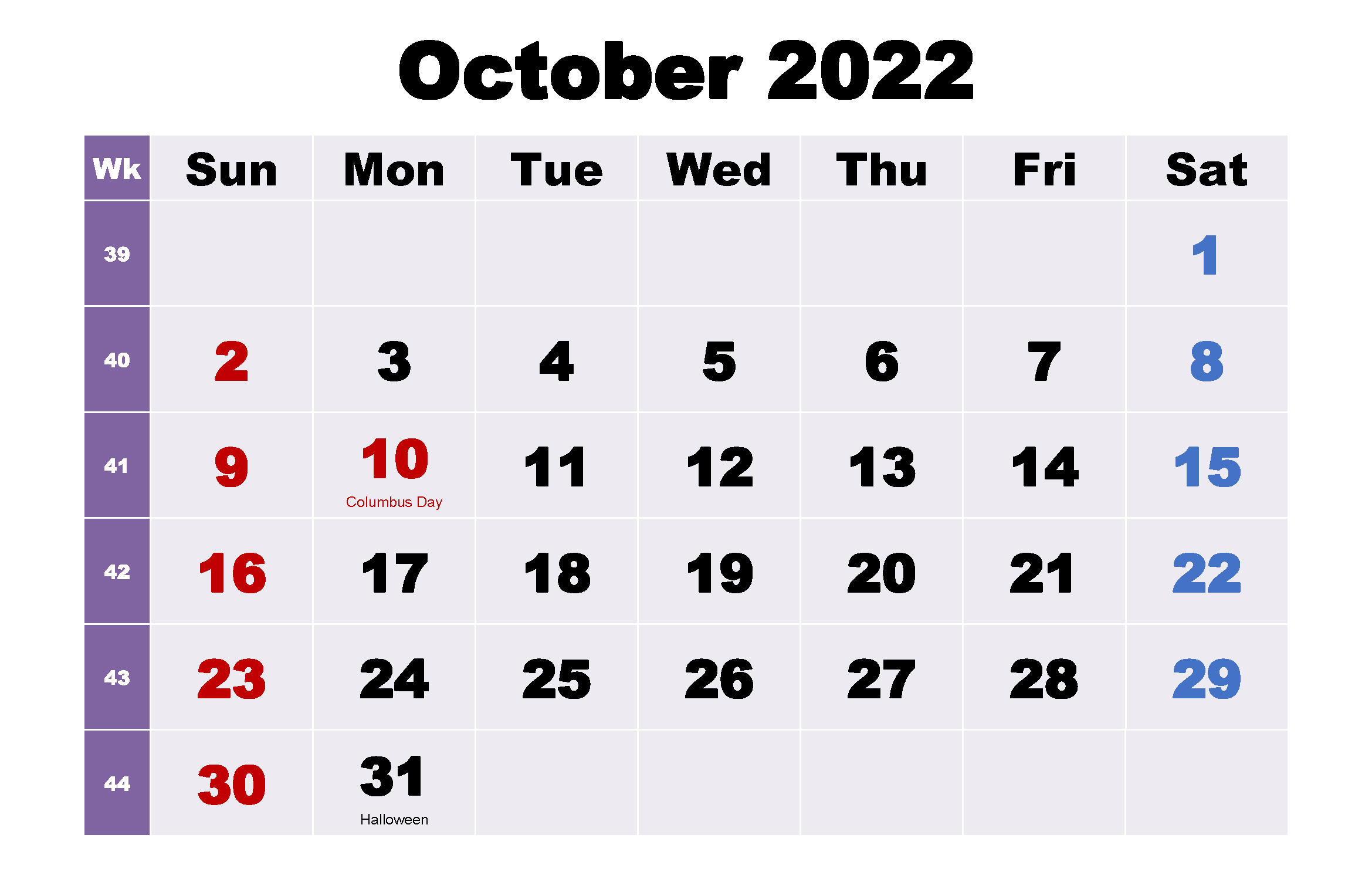 October 2020 Calendar with Holidays South Africa