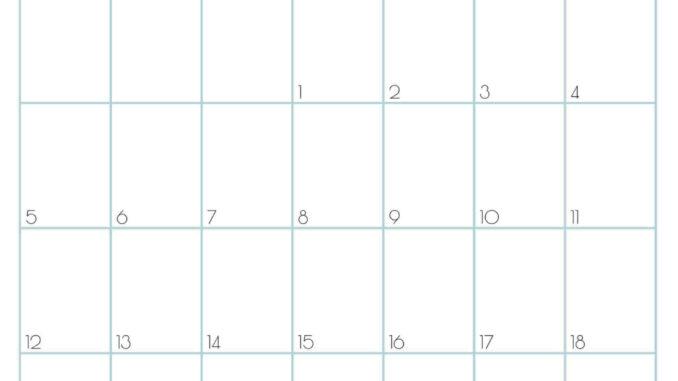 Print September Calendar 2021 A4 Size