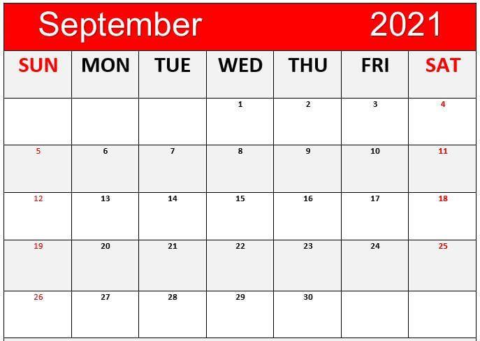 free cute september 2021 calendar
