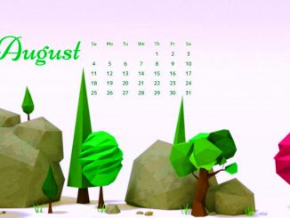 August 2019 Calendar Wallpaper for Desktop