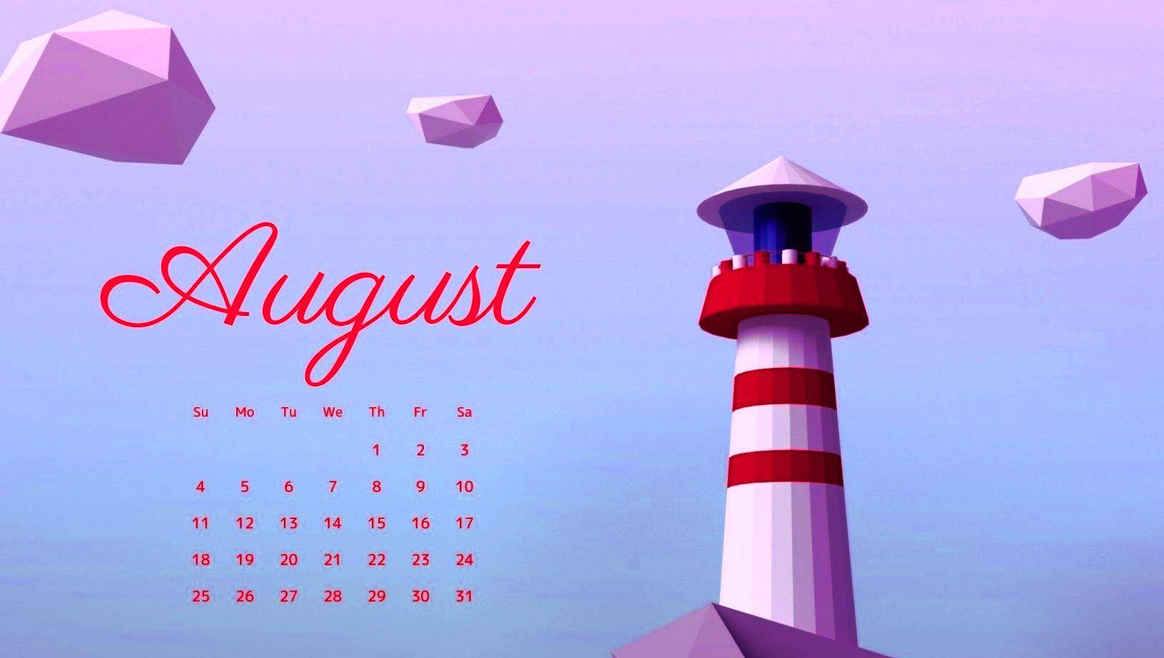 August 2019 Desktop Calendar