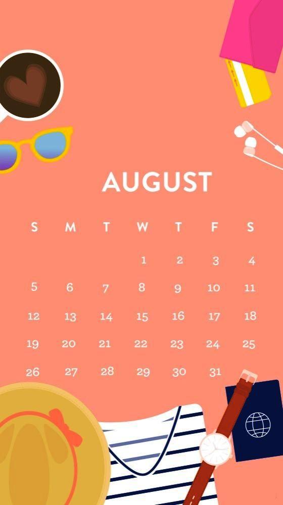 August 2019 iPhone Calendar