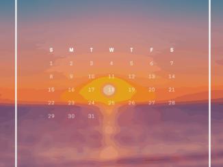 August 2021 iPHone Wallpaper Calendar