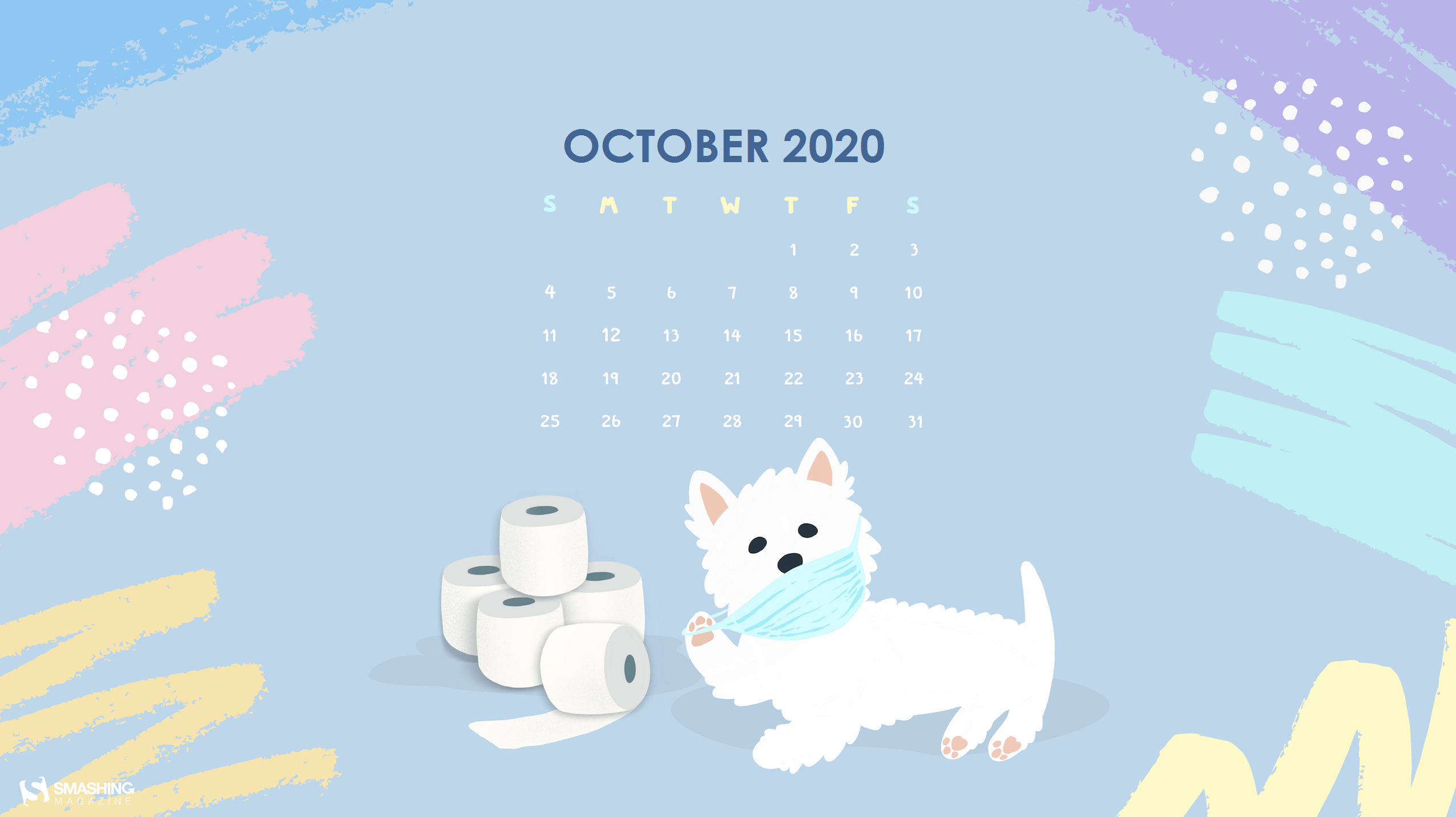 Cute October 2020 Wallpaper Calendar