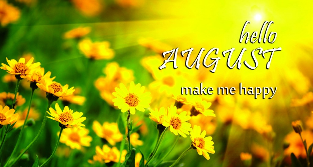 Hello August Flower Images
