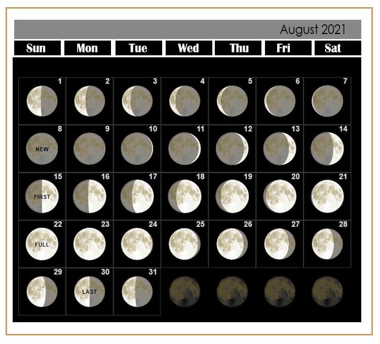 Lunar Calendar August 2021