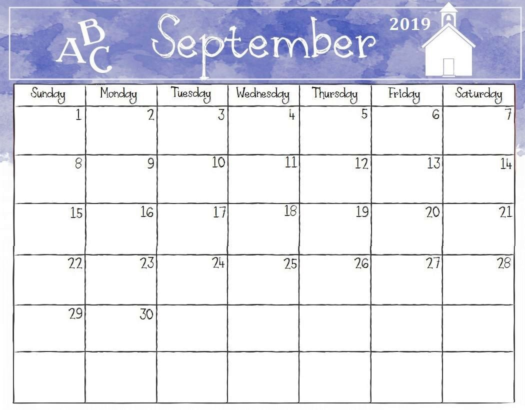 Editable September 2019 Calendar Template