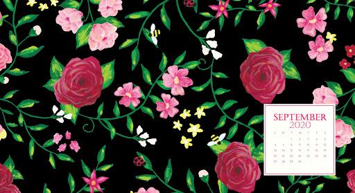 Floral September 2020 Desktop Background