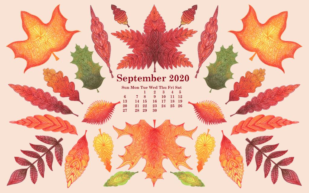 September 2020 Floral Wallpaper Screensaver