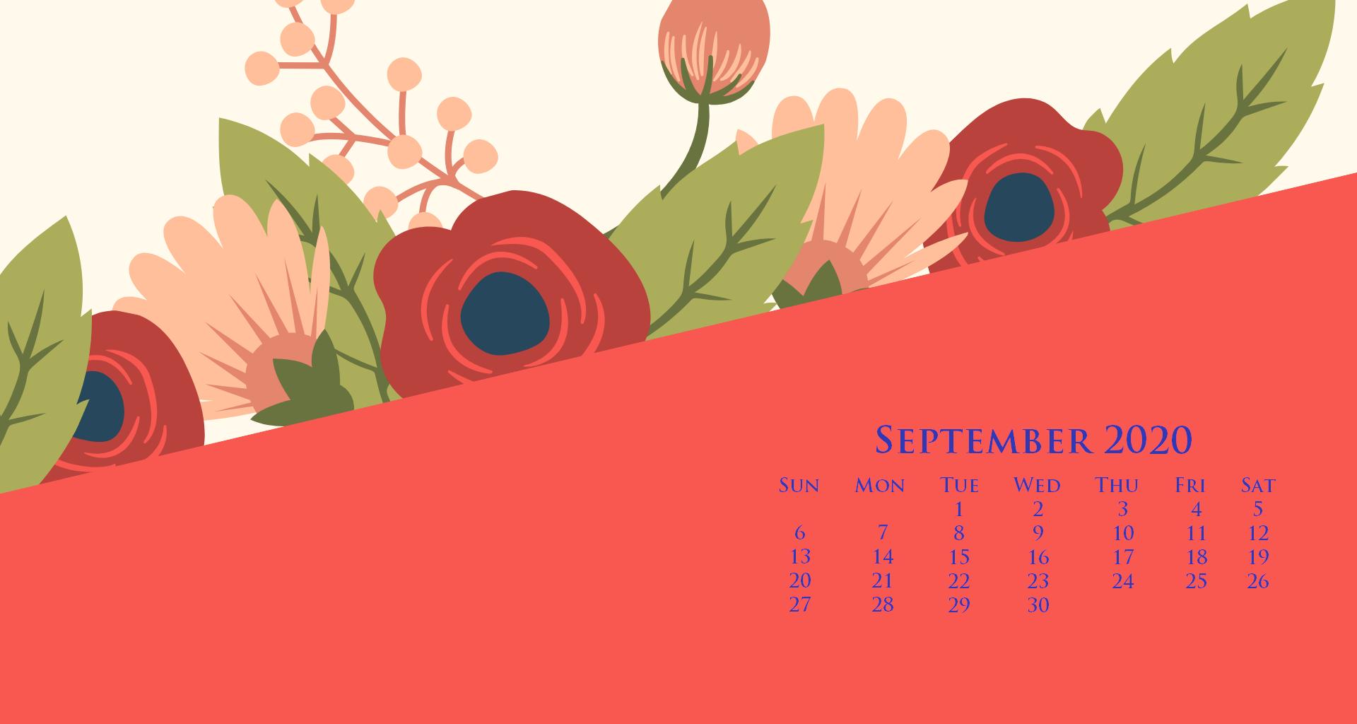 September 2020 Floral Wallpaper