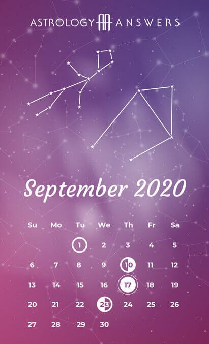 September 2020 Moon Calendar
