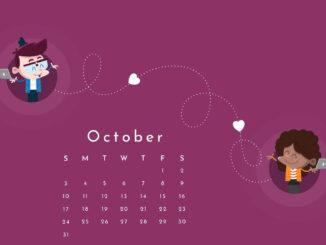 october 2021 calendar wallpaper
