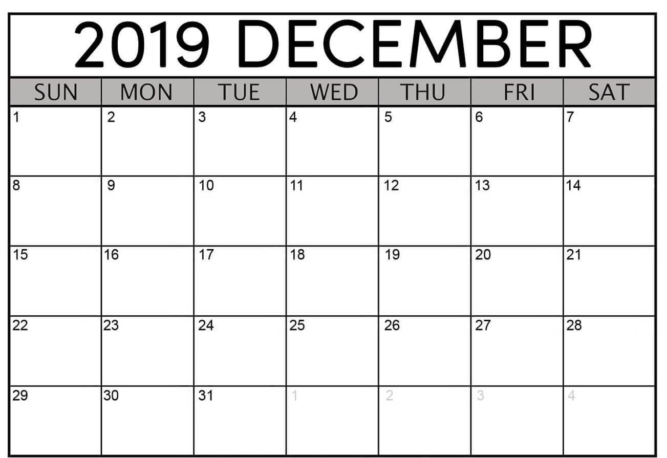 December 2019 Moon Calendar Printable