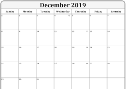 December Calendar 2019 Moon