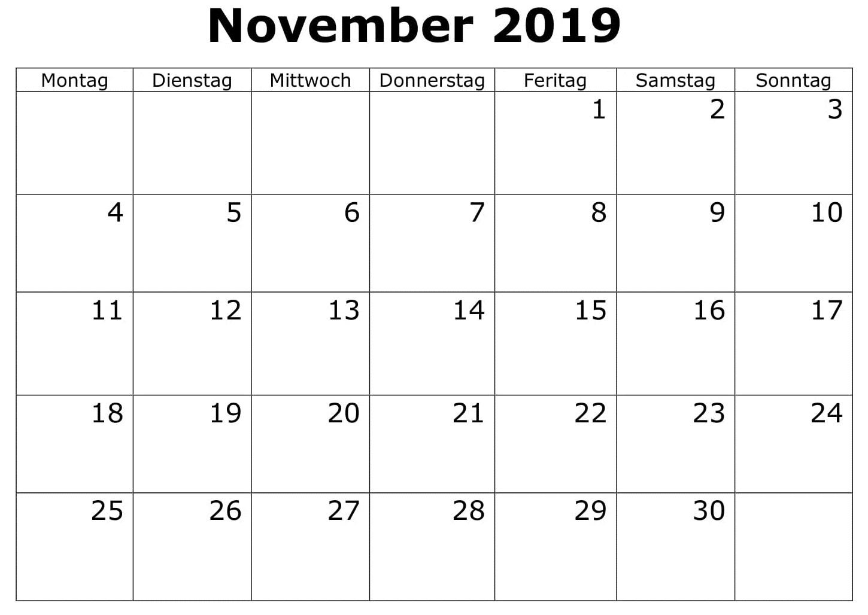 Kalender Akademisch November 2019 Zum Ausdrucken