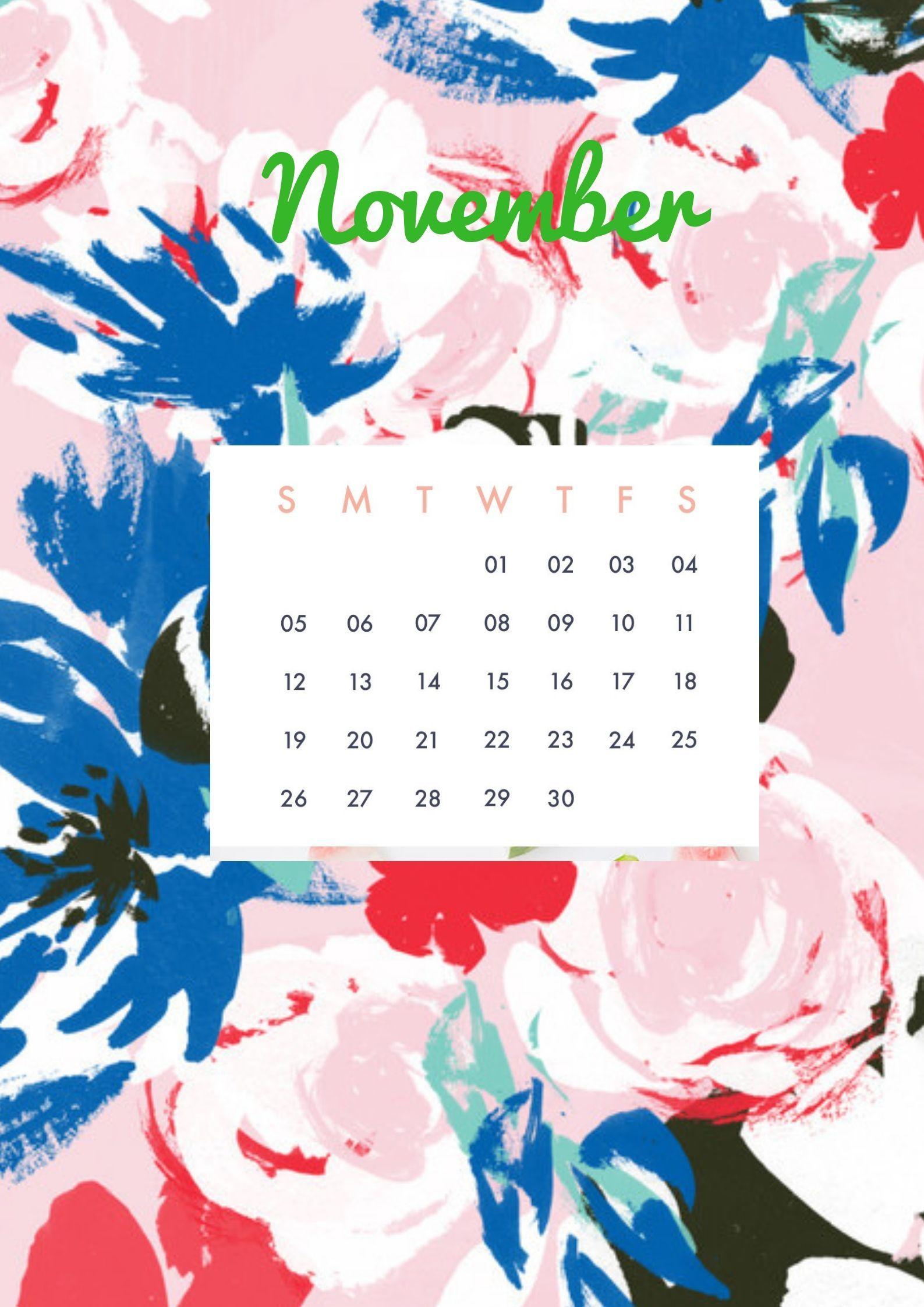 November 2019 Wall Calendar