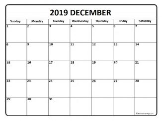 Printable December Calendar 2019 Moon Phases