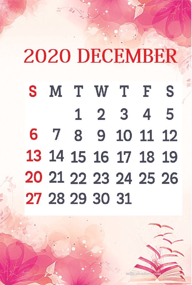 Cute December 2020 Calendar Wallpaper