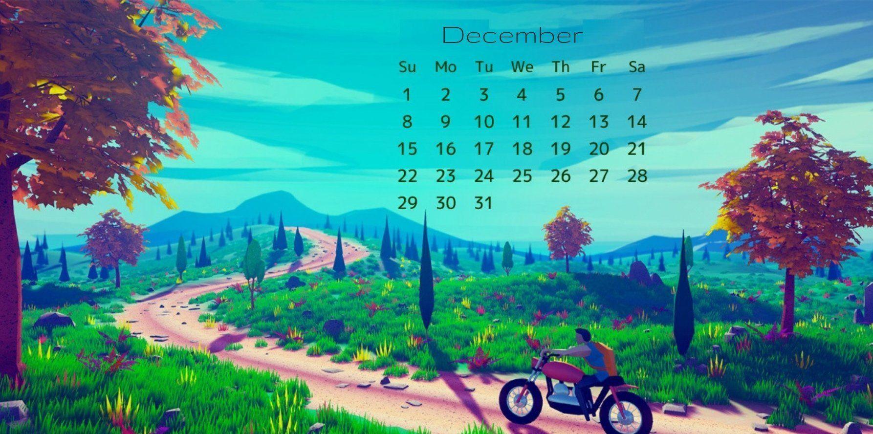 December 2019 Calendar HD Wallpaper
