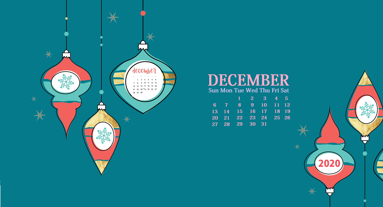 December 2020 HD Calendar Wallpaper