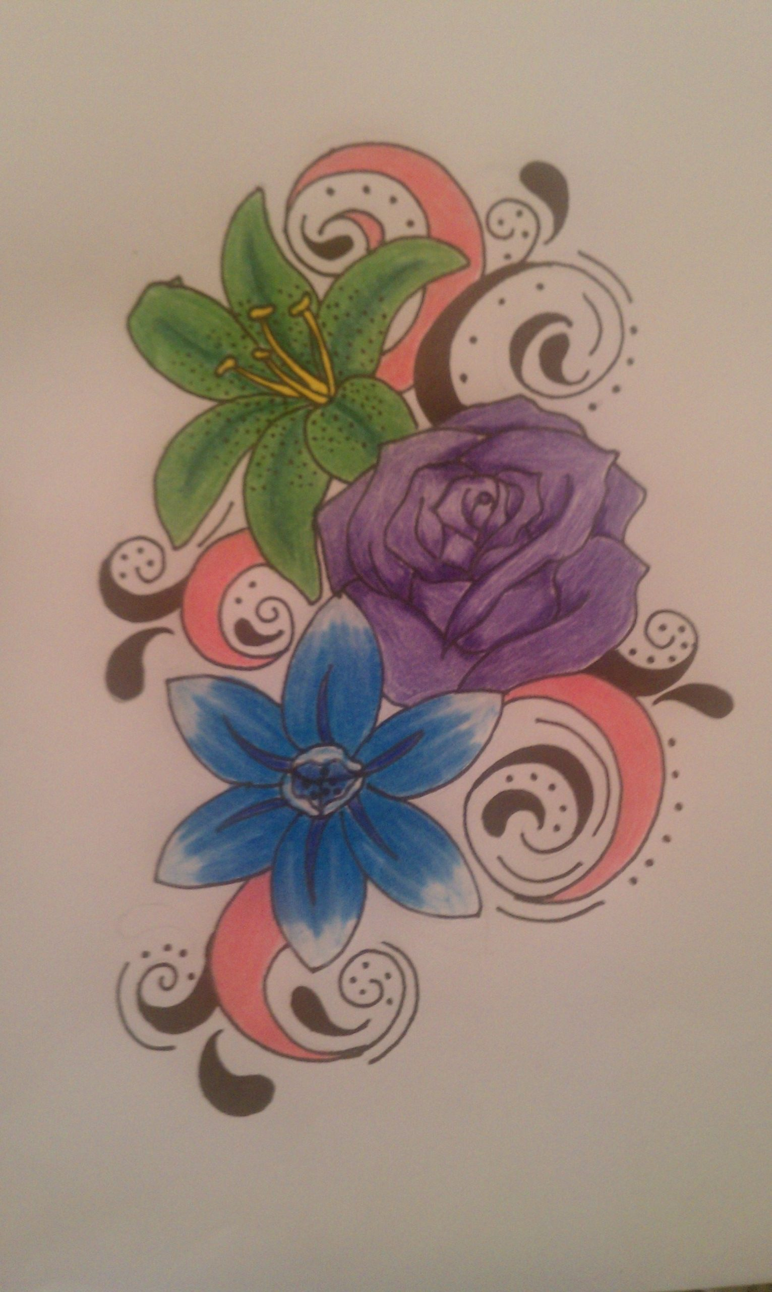 December Birth Flower Tattoo