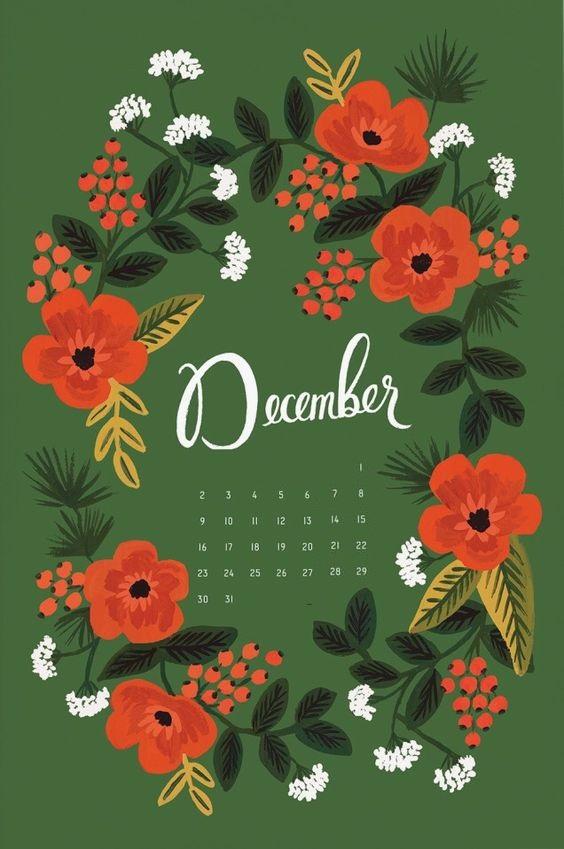 Floral December 2019 iPhone Wallpaper