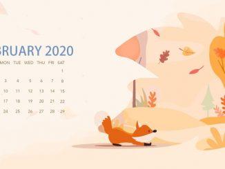 Unique February 2020 Wallpaper Calendar