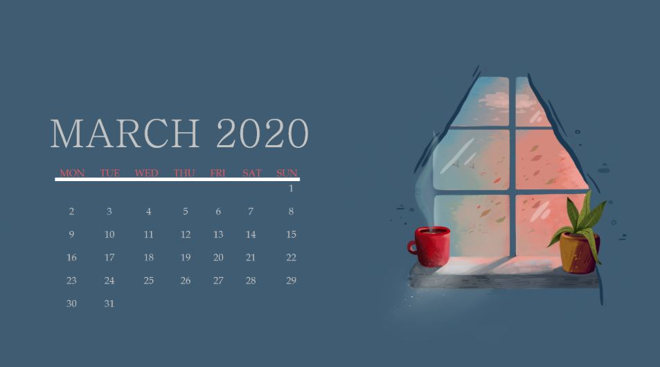 Cute March 2020 Wallpaper