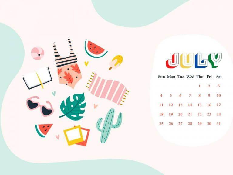 July 2021 Calendar HD Wallpaper