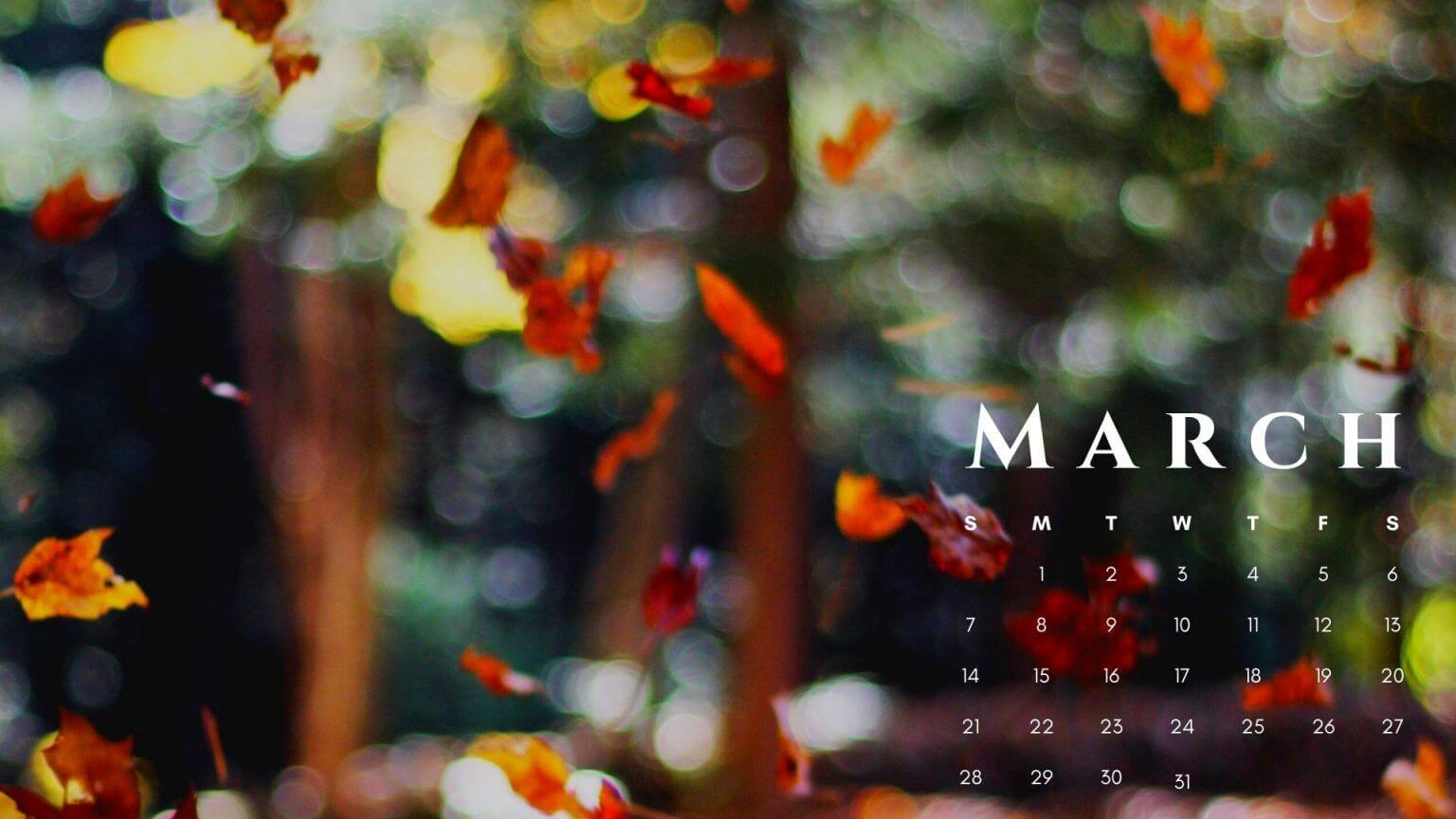 March 2021 Calendar HD Wallpaper