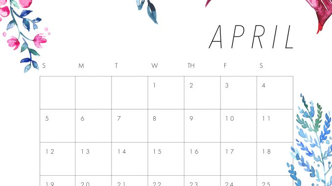 April 2020 Calendar Wallpaper for iPhone
