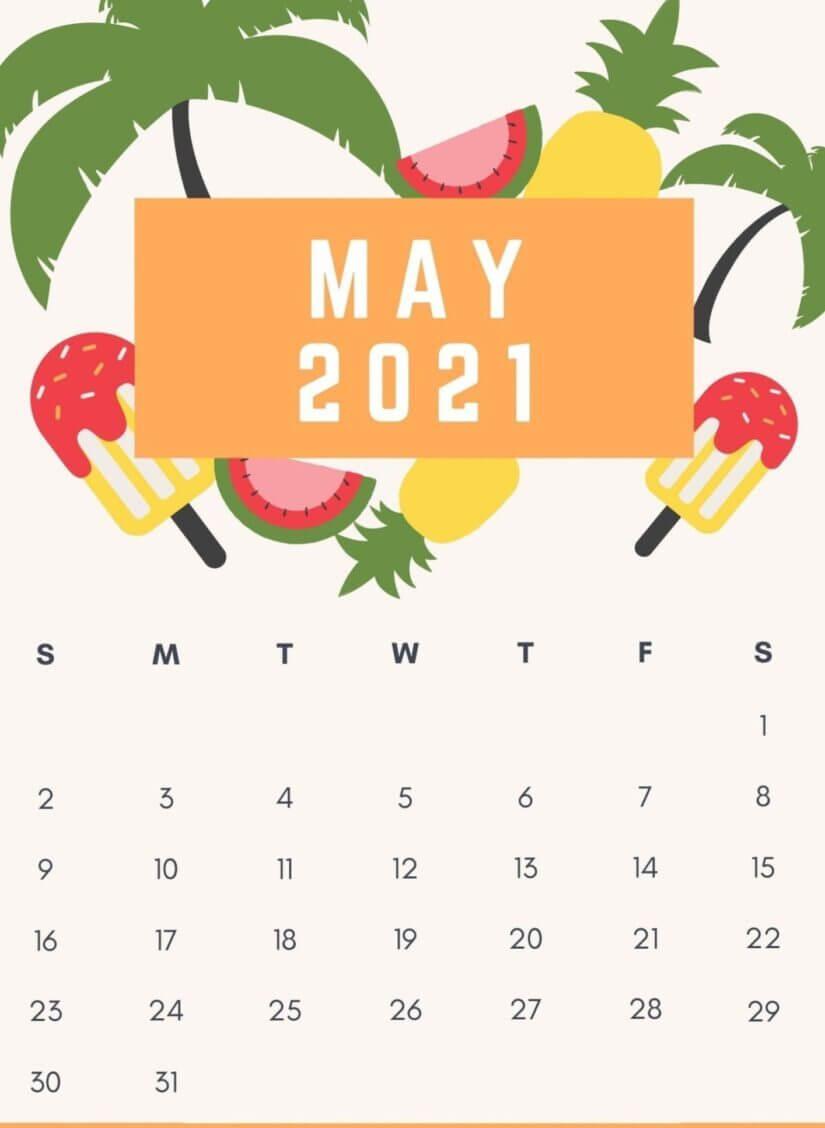 Floral May 2021 Calendar Wallpaper