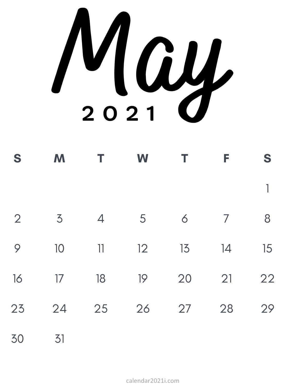 May 2021 Printable Calendar Pdf