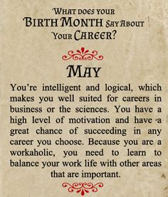 May Birth Month ideas