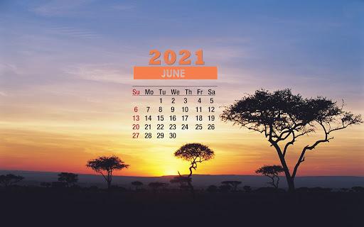 June 2021 Calendar Wallpaper For Desktop