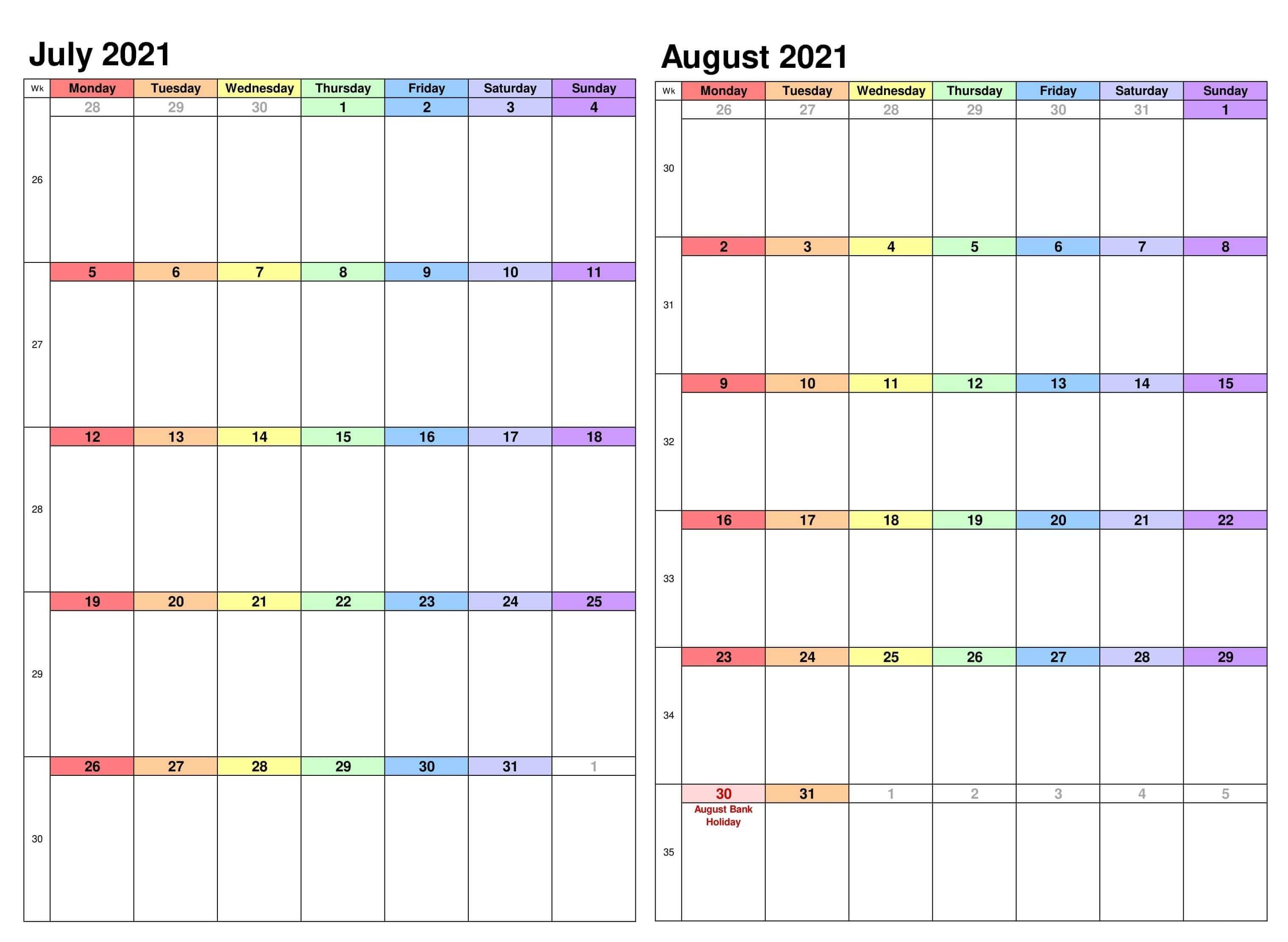 2021 july august calendar portrait