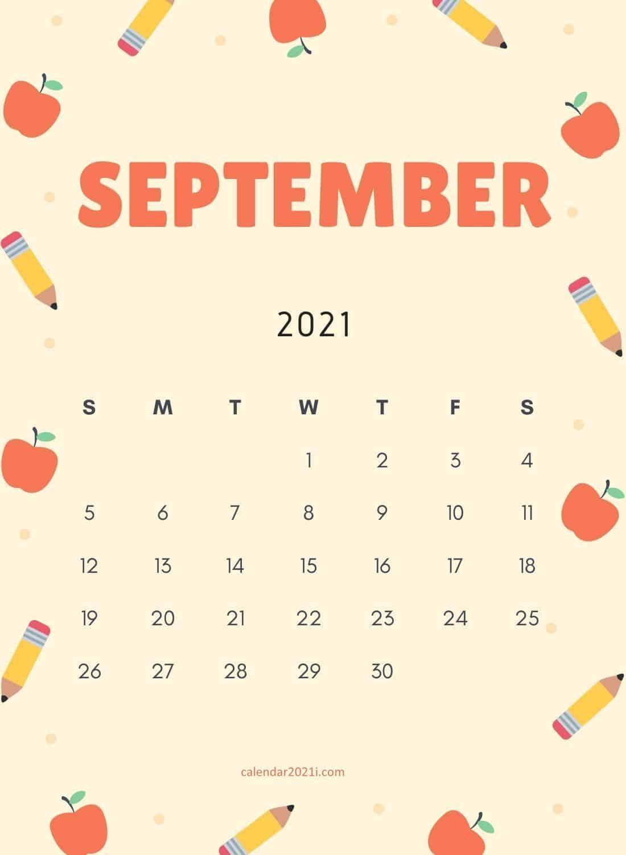 Floral September 2021 Calendar Wallpaper