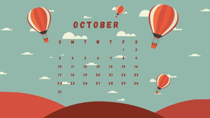 October 2021 Desktop Background Calendar