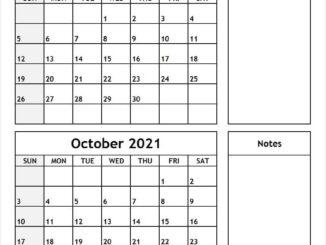 Sep Oct 2021 Calendar