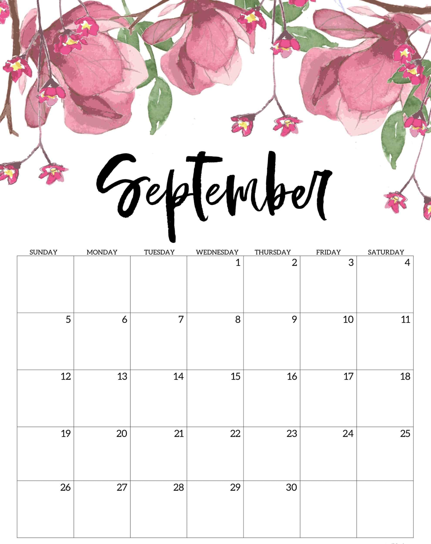 September 2021 iPhone Calendar Wallpaper